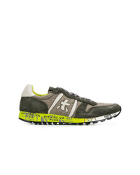 Sneakers basse in pelle scamosciata verde oliva di Premiata