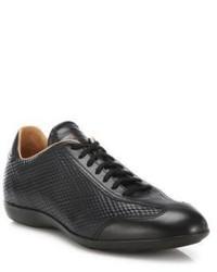Sneakers basse in pelle stampate nere