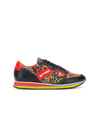 Sneakers basse in pelle stampate nere di Etro