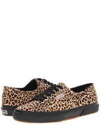 Sneakers basse leopardate marrone chiaro