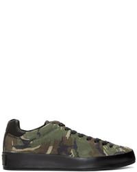 Sneakers basse mimetiche verde oliva