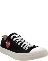Sneakers basse nere e bianche