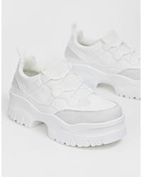 Sneakers basse pesanti bianche di ASOS DESIGN