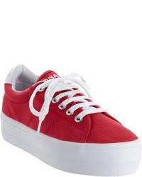 Sneakers basse rosse