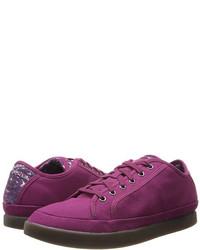 Sneakers basse viola melanzana