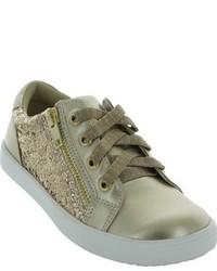 Sneakers con paillettes argento