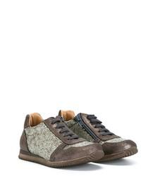Sneakers con paillettes marroni di Pépé