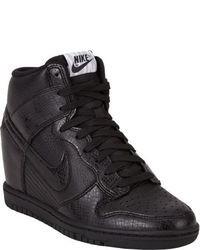 Sneakers con zeppa in pelle nere