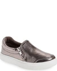 Sneakers in pelle grigio scuro