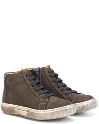 Sneakers in pelle grigio scuro di Pépé