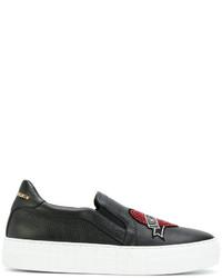 Sneakers in pelle nere di Philipp Plein