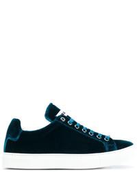 Sneakers in pelle verde scuro di Jil Sander