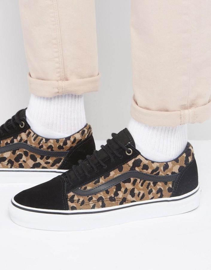 baa49af433 Sneakers leopardate nere di Vans