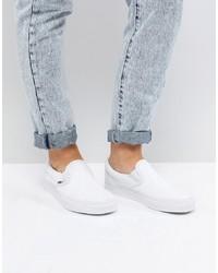Sneakers senza lacci bianche di Vans