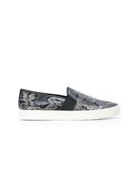 Sneakers senza lacci con stampa serpente grigie di Vince