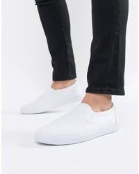 Sneakers senza lacci di tela bianche di ASOS DESIGN