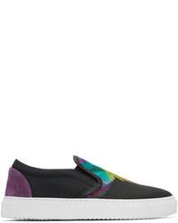 Sneakers senza lacci di tela multicolori