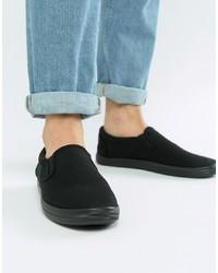 Sneakers senza lacci di tela nere di ASOS DESIGN