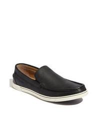 Sneakers senza lacci in pelle nere