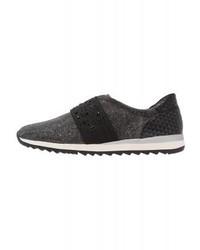 Sneakers senza lacci in pelle nere di Jana