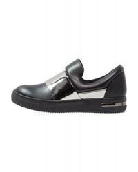 Sneakers senza lacci in pelle nere di LOST INK