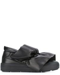 Sneakers senza lacci in pelle nere di MSGM