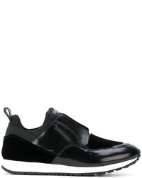 Sneakers senza lacci in pelle nere di Tod's