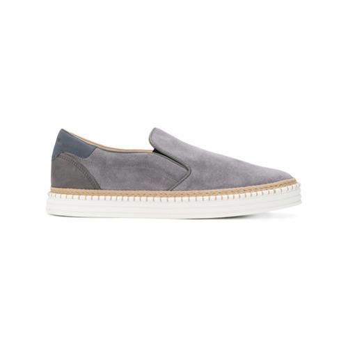... Sneakers senza lacci in pelle scamosciata grigie di Hogan ... 77c9643a56d