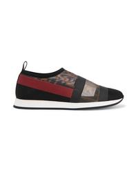Sneakers senza lacci stampate nere di Fendi