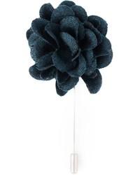Spilla a fiori blu scuro di Lanvin