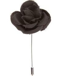 Spilla a fiori nera