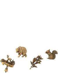 Spilla leopardata dorata di Dsquared2