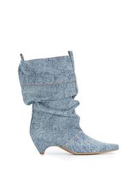 Stivaletti di jeans azzurri di Stella McCartney