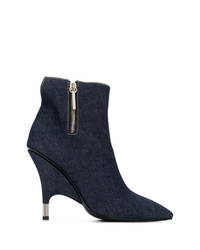 Stivaletti di jeans blu scuro di Giuseppe Zanotti Design
