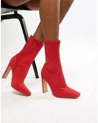 Stivaletti elasticizzati rossi di Missguided