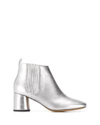Stivaletti in pelle argento di Marc Jacobs