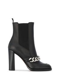 Stivaletti in pelle decorati neri di Givenchy