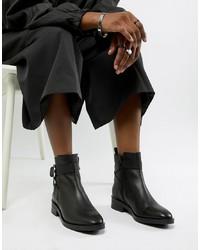 Stivaletti in pelle neri di ASOS DESIGN
