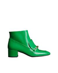 Stivaletti in pelle verdi di Burberry