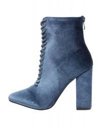 Stivaletti stringati eleganti blu di Glamorous