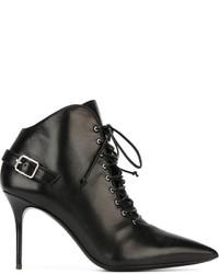 Stivaletti stringati eleganti in pelle neri di Giuseppe Zanotti Design