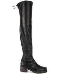 Stivali al ginocchio in pelle neri di Stuart Weitzman