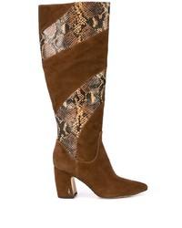 Stivali al ginocchio in pelle scamosciata marroni di Sam Edelman