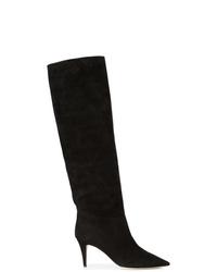 Stivali al ginocchio in pelle scamosciata neri di Tamara Mellon