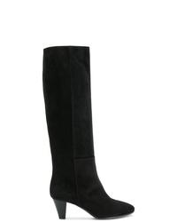 Stivali al ginocchio in pelle scamosciata neri di Via Roma 15