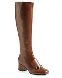 Stivali al ginocchio marroni