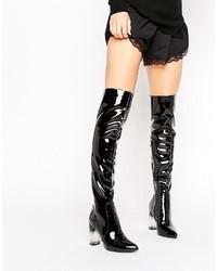 Stivali al ginocchio neri di Missguided