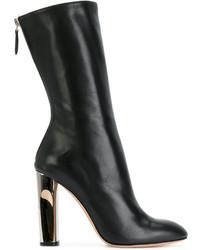Stivali al polpaccio neri di Alexander McQueen