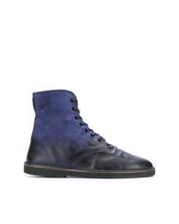 Stivali casual in pelle blu scuro di Golden Goose Deluxe Brand