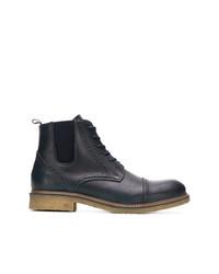 Stivali casual in pelle blu scuro di Tommy Hilfiger